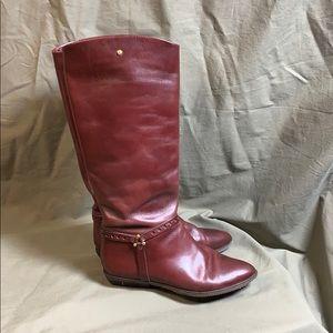 Etienne Aigner Burgundy Vintage Leather Boots